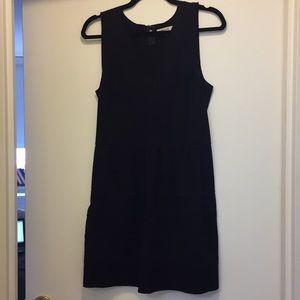 Madewell Silhouette Raw Hem Black Dress Style39144